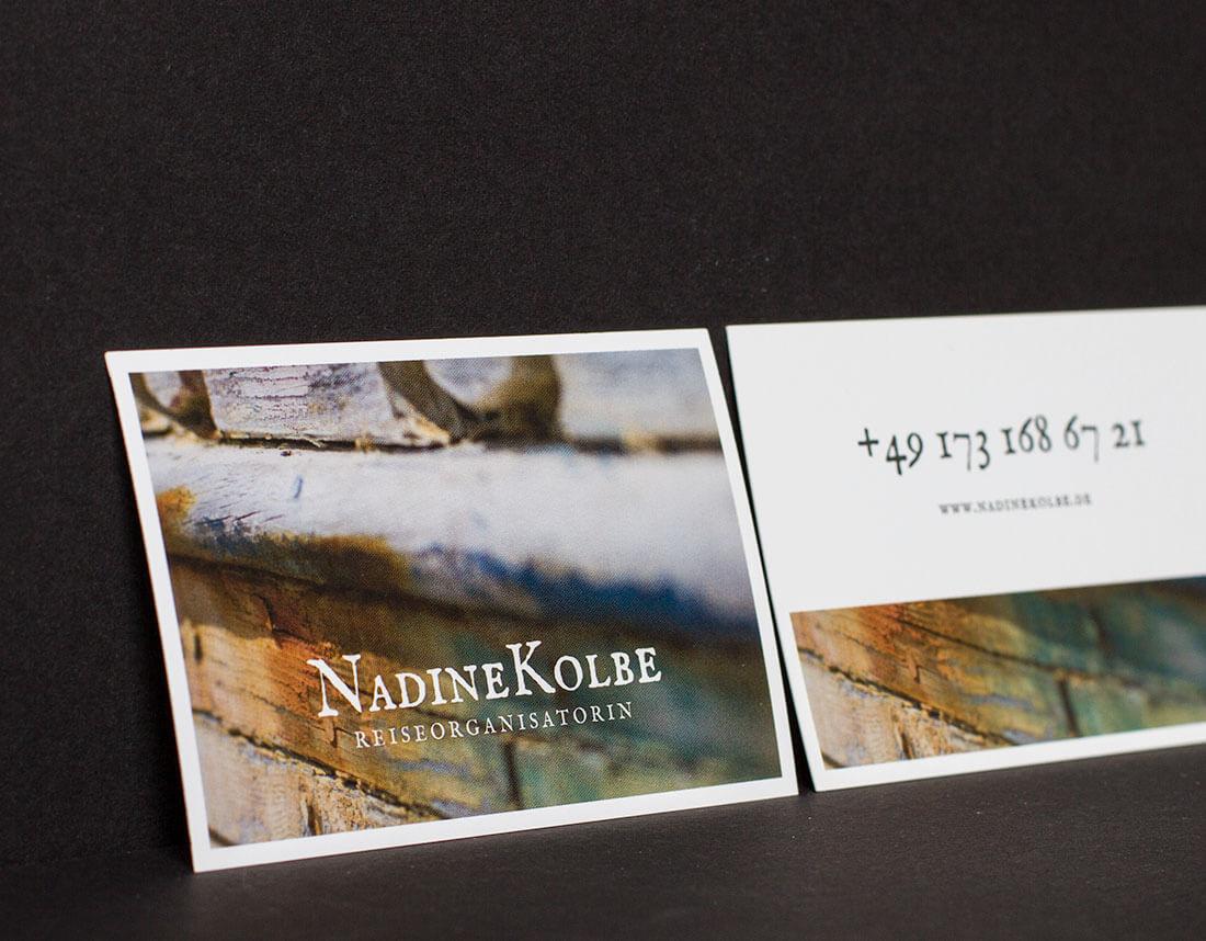 Visitenkarten für Nadine Kolbe - Die Reiseorganisatorin