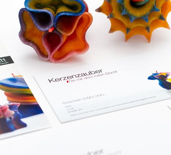 werbeagentur berlin print flyer kerzenzauber