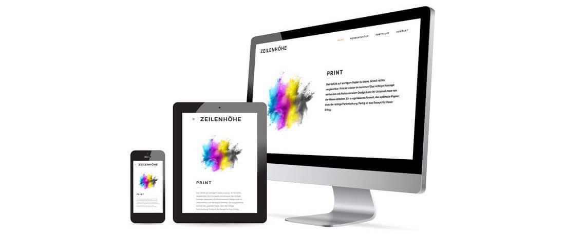 Fotografen Webseite mit responsive Design