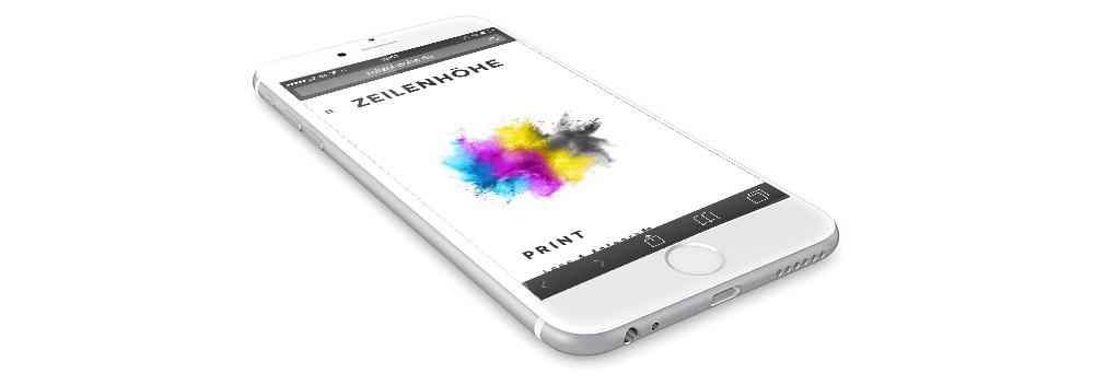 Auch auf dem iPhone wird das Fotografen Portfolio richtig angezeigt