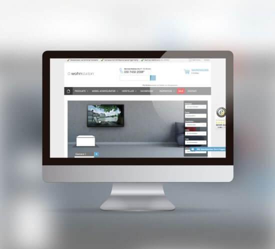 Online Möbel-Konfigurator für Wohnstation