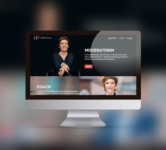 Webseite Relaunch für die Moderatorin Angela Elis aus Berlin